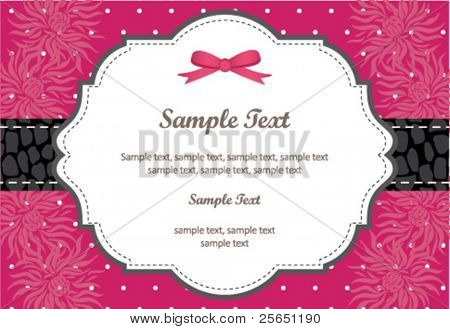 Wedding Invitation Panel - use for invitation for weddings, showers, parties...