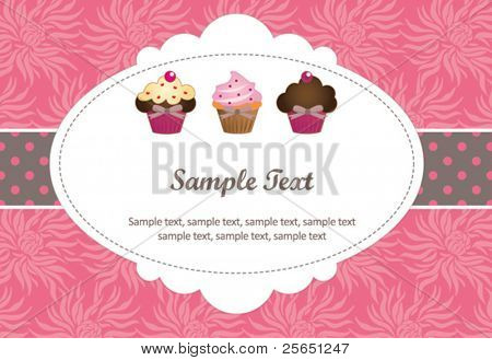 Süße Cupcake-Geschenkkarte