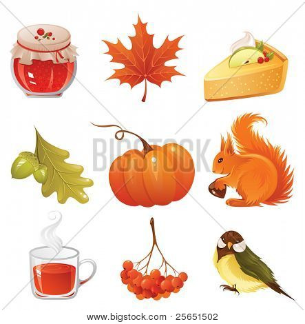 Herbst Icon-set