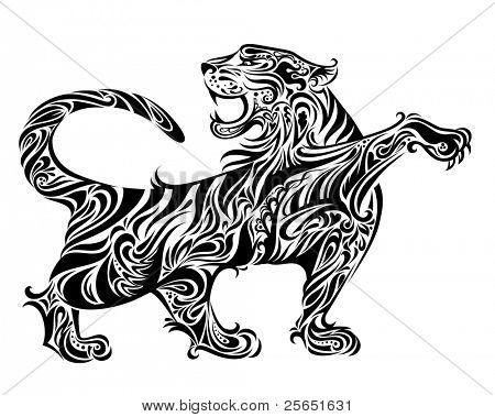 Ilustración de tigre