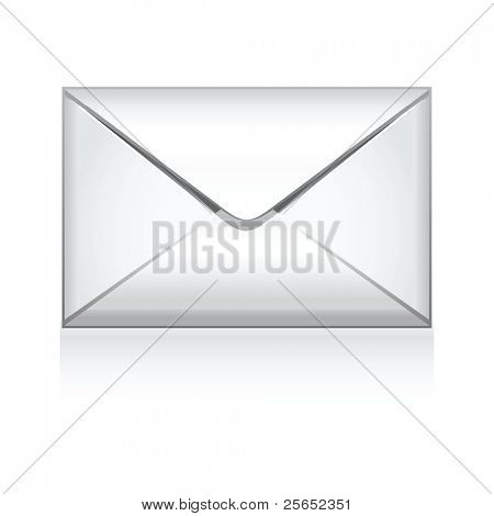 e mail icon isolated on white