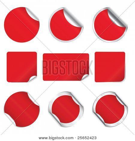 Set Vektor rot Aufkleber