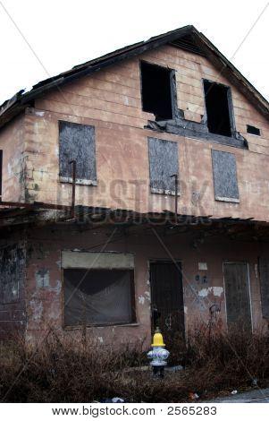 New Hydrant Hurricane Ravaged House