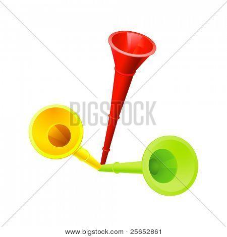 Vuvuzela set raster