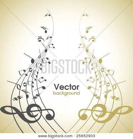 Musical abstrato.Nota de música.