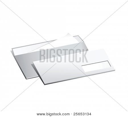 Two vector paper post envelope.