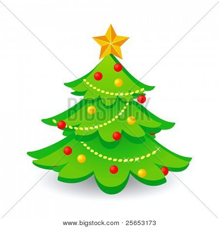 Christmas tree.Vector.