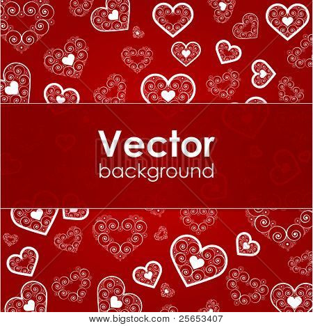 Vector valentine background with heart Eps 10