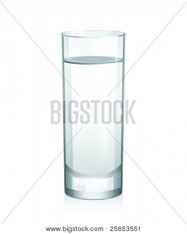 Vector glass with water.