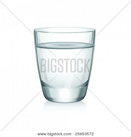 Vector short glass with water.