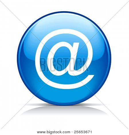 Raster blue e-mail internet icon button