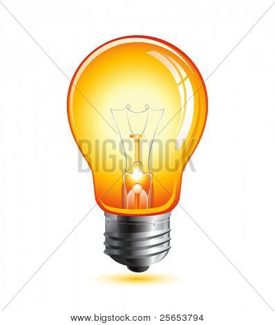 vector  light bulb