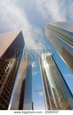 Los Angeles downtown Gebäude vertikale
