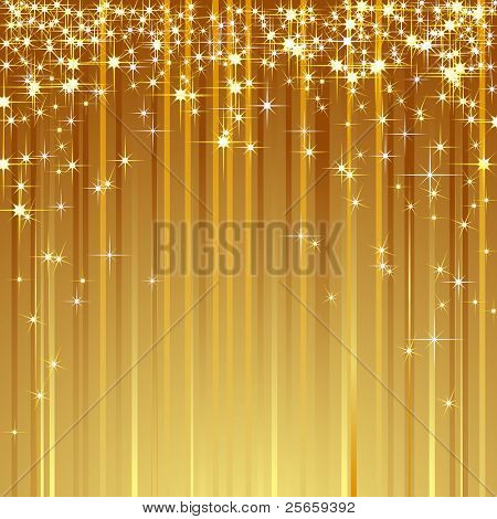 Brilliant background with shooting stars. Vector.