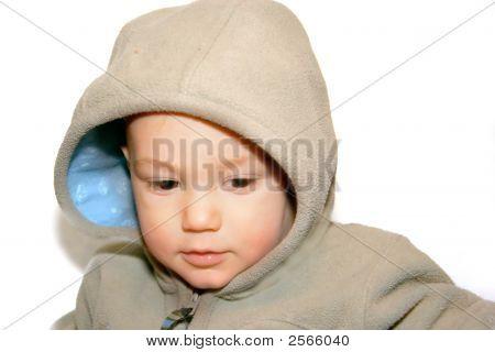Baby Boy In Warm Jacket