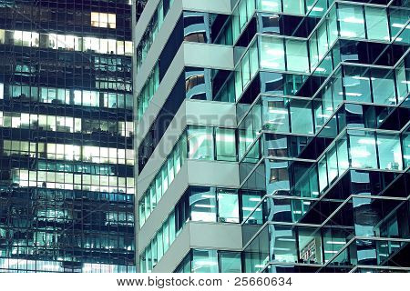 Seamless Illustration Resembling Illuminated Windows In A Tall Building At Night
