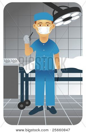 Surgeon in operative room.