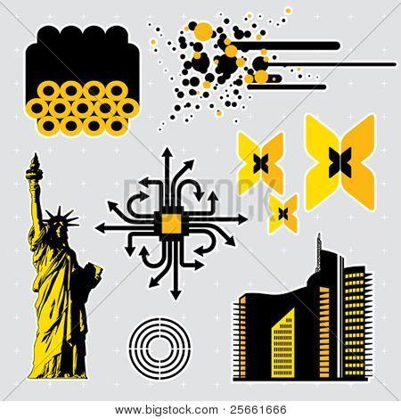 Urban series: editable design elements (7)