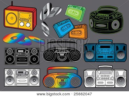 Music set 3 (visit our portfolio for more design elements and music vectors)