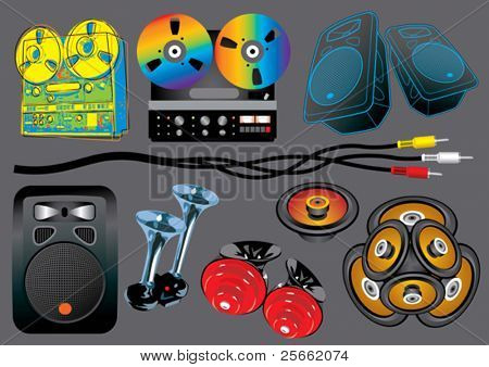 Music set 12 (visit our portfolio for more design elements and music vectors)