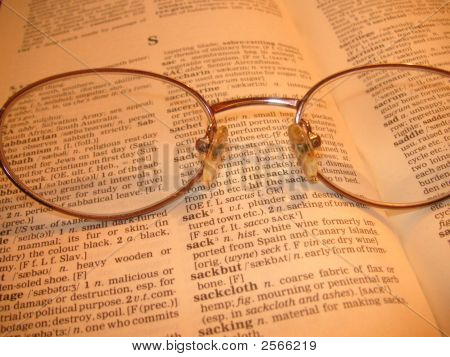 Spectacles On Dictionary