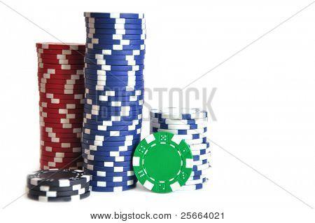 juego de fichas sobre blanco