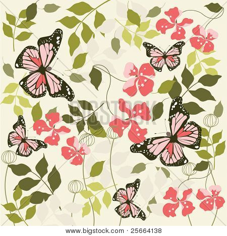 spring floral background (look for vector version in my portfolio)