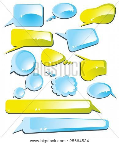set of speech and thought vector elements (look for vector version in my portfolio)