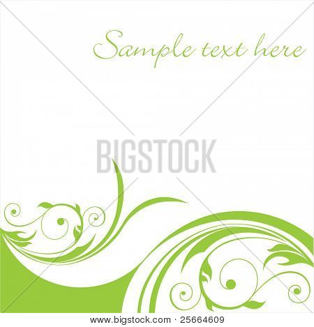 fresh floral background (look for vector version in my portfolio)