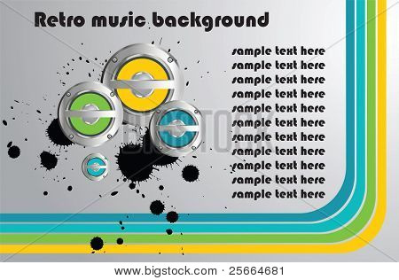 retro background with music speakers (look for vector version in my portfolio)