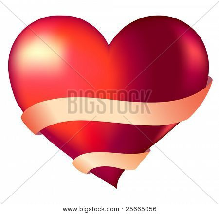 heart and ribbon with place for text (look for this vector illustration in my portfolio)
