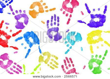 Hand Print Background