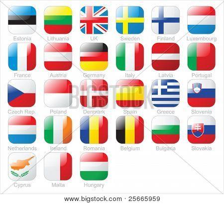 die europäische Union Länder flags