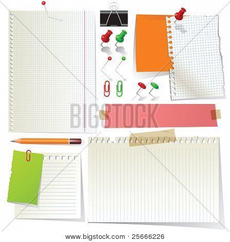 Hinweis-Papier und Bürobedarf