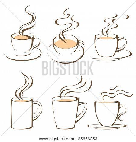 jogo de xícaras de café