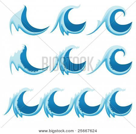 stylized sea waves