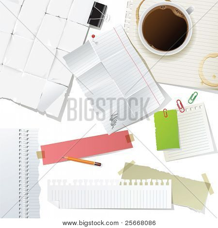 great office supplies and paper set