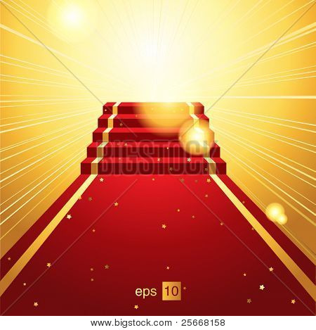 On the red carpet - vector background eps 10.0