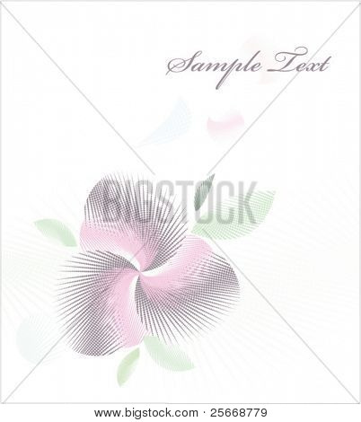 abstract floral card design