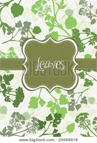 leaves background card design