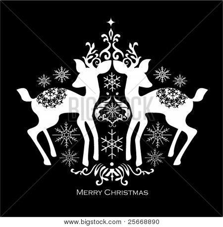 black and white christmas design