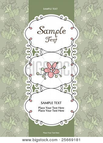 card design with floral background