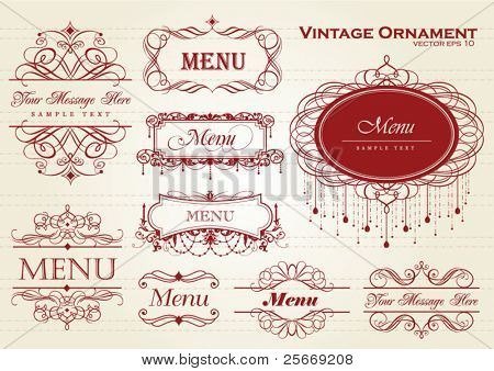 vintage ornament / frame template for your title, text or message