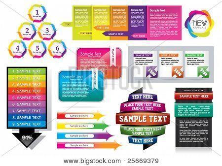 Vektor-Design-Elemente-set
