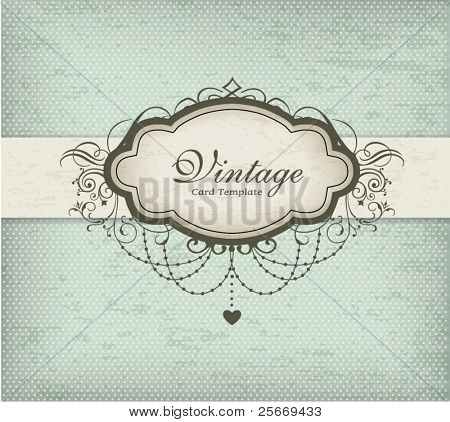 Diseño de tarjeta Vintage