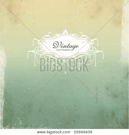card design with vintage background