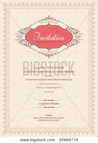 Diseño de la tarjeta de invitación