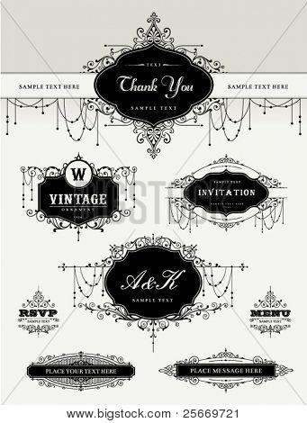 vintage ornament frames