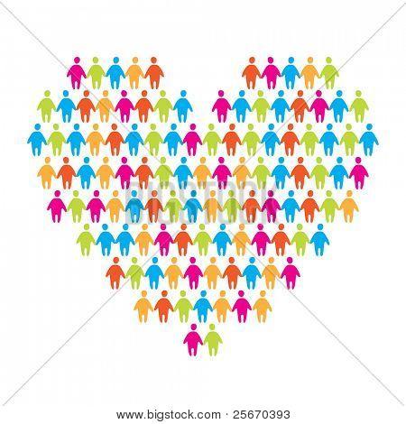 signo del amor - el corazón de unir personas