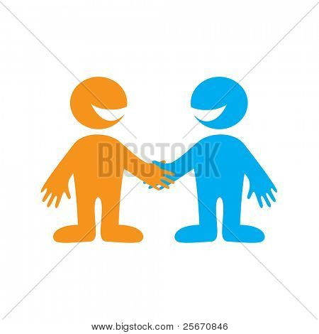 Symbol of successful business negotiations. Business Partners. Vector sign.